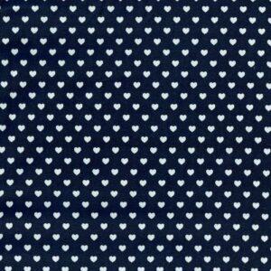 tessuto-cotone-blu-cuori-bianchi